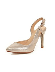 Women's Shoes Stiletto Heel Heels/Pointed Toe Sandals Office & Career/Dress Purple/White/Silver/Gold