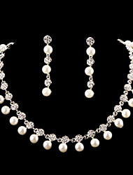 Jewelry Set Women's Anniversary / Wedding / Engagement Jewelry Sets Cubic Zirconia / Imitation Pearl / Alloy Necklaces / Earrings Silver