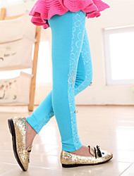 Girl's Cut Out Lace Leggings