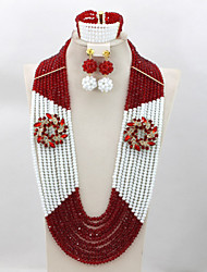 Splendid African Wedding Beads Jewelry Set Costume African Jewelry Sets