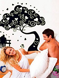 Wall Stickers Wall Decals, Lovers Tree PVC Luminous Wall Stickers