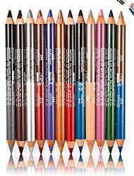 12 PCS Dual Pearl Eyeshadow Eyeliner Liner Pencil Cosmetic Makeup Set- 24Color
