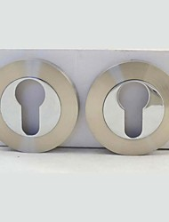 Brushed Nickel And Chromed Alloy Escuhteon, Rosette, Rose