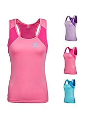 Outdoors Women's Polyester Pink Light Blue and Lavender Colors Quick-drying Sleeveless Vest