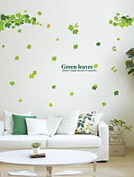 folhas verdes removíveis ambientais e adesivo de parede de pvc ramo
