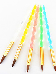 5PCS 5 Colors Sizes 2-way Professional UV Gel Brush Set Acrylic Nail Art Painting Draw Brush