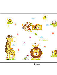 Cartoon King Lion PVC Wall Stickers