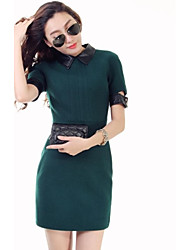 Verragee® Woolen Dress Was Thin Package Hip Step Skirt Temperament Bottoming Large Size Women