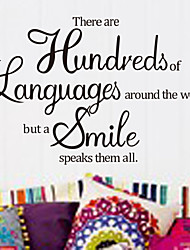 There Are Hundreds Of Languages Home Wall Decal Zooyoo8165 Decorative Removable Vinyl Wall Sticker