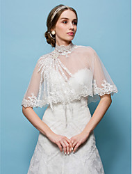 Wedding  Wraps Capelets Tulle Beige
