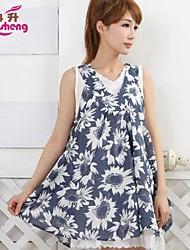 RanSheng Women's Vintage/Casual/Print/Cute/Party Sleeveless Above Knee Maternity Dress