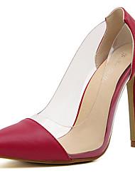 Stiletto Damenschuhe - Pumps/Heels Schwarz/Rot/Weiß)