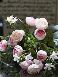 "12 ""l chá subiu bonito flores de pano de seda pouco de rosa"