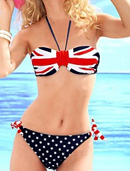 Women's Bikinis Padded Bras Spandex Blue