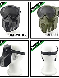 MA-23  Simple Tactical Airsoft Transformers War Game Mask (Round Mesh)