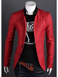 la moda de los hombres allen todo coincide chaqueta color sólido