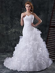 Ball Gown,Trumpet/Mermaid Chapel Train Wedding Dress -Sweetheart Organza