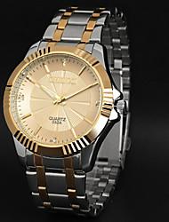 LAGMEEY® Luxurious Gold Steel Belt Business Nen Quartz Watch