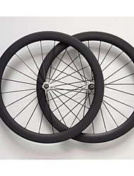 AURORA RACING 700C 50mm Width 25mm Carbon Fiber Clincher Wheels Bicycle Wheelset
