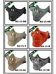 Airsoft Wargame Half Face Army Skull Military Mask V3