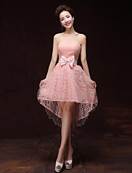 Formal Evening Dress A-line Sweetheart Knee-length Satin Dress