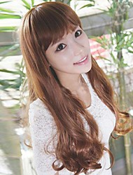South Korea fashion golden brown curly hair