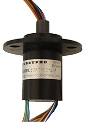 Slip Ring With Flange 24 Circuits OD 22mm 2A Per Circuit for CCTV Systems, Robotics, Rotating Equipment
