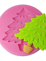 FOUR-C Silicone Cupcake Mold Christmas Tree Fondant Mould,Cake Decorating Tools Supplies,Fondant Decoration Tools