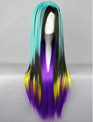 Anime Modelling Mixed Color High Quality Hair Straight Hair