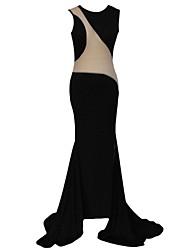 Women's Sexy Peek-a-boo Floor Length Evening Gown