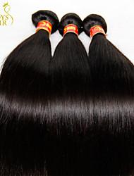 """3 pc lotto 30/08 """"nero eurasiatici capelli umani del tessuto fasci non trasformati prime eurasian rette trame dei capelli vergini naturali"""