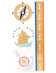 1PC Gold Tattoos Boat Anchor Temporayry Tattoos Flash Tattoos Cuticle Tattoos Wedding Party Tattoos(25*10.5cm)
