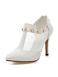 Pompes / Talons ( Noir/Rose/Blanc Chaussures à talons/Bout pointu/Bout fermé - Talon aiguille - Similicuir - pour FEMMES