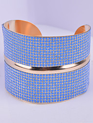 D Exceed Women's Bracelet Iron Gold Plated Design Wide Bracelet Jewelry Mix Color Causal Cuff Bangles
