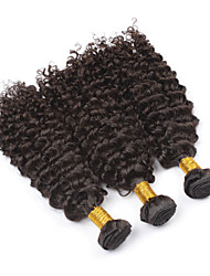 "3pcs/lot 8""-28"" Brazilian Afro Kinky Curly Virgin Hair Short Natural Color Kinky Curly Afro Curl Human Hair Weave"