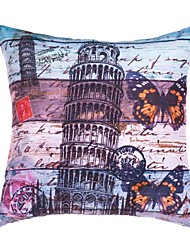 """Retro 18"""" Square Cities Pillow Cover/Pillow With Insert"""