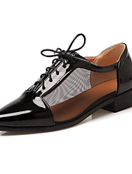Women's Shoes Chunky Heel Pointed Toe Oxfords Shoes with Lace-up Dress More Colors available
