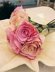 un mazzo di 7 seta rose simulazione panno wedding bouquet di nozze della sposa azienda fiori, rosa