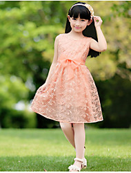 Girl's new cuhk children dress dress with short sleevesB8819