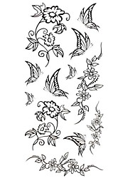 1pc New Waterproof Temporary Tattoos Back/Wrist/Neck Tattoos Butterfly Rose Collections Body Tattoos(18.5*8.5cm)