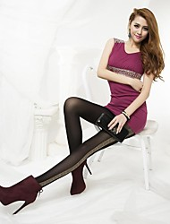 Women Leopard On Side Patterned 120Dennis Tights / Pantyhose#900151