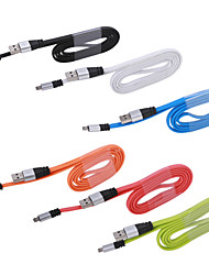 New Aluminum Micro USB Rapid Charger Charging Sync Data Cable For Samsung Galaxy S3 S4 S5 Note2 Assorted Colors