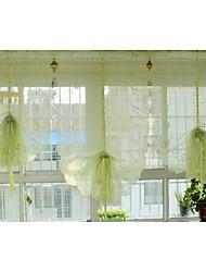 "um painel 85cmwx145cml33 ""wx57"" l floral / bordado poli / botânico tule pura"