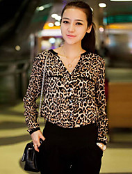 F_skirt   Women's Casual Long Sleeve Casual Shirts (Chiffon)