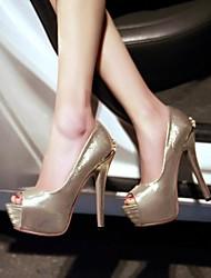 Scarpe Donna - Scarpe col tacco - Formale - Spuntate / Plateau - A stiletto - Vernice - Nero / Rosa / Bianco / Dorato