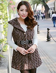 Women's Rabbit Fur Sweet Grass Type Leather Jacket