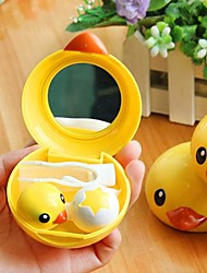 High Quality Yellow Duck Plastic Contact Lenses Case
