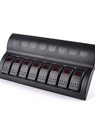 interrupteur Bateau de panneau 8 gang dirigé panneau de commutateur à bascule