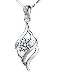 Ladies' Silver Angle Wings Pendant