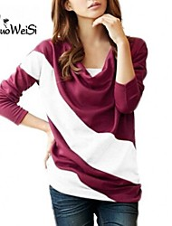 NUO WEI SI ® Women's Round Neck Stripe Loose Fit T-Shirt